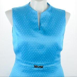 Tahari - Bright Blue Sleeveless Dress - Size 12
